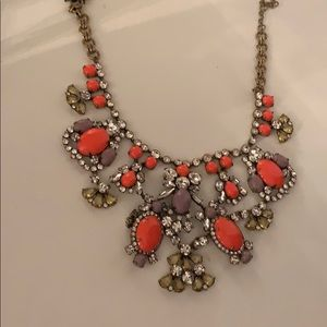 Large gemstone J. Crew necklace